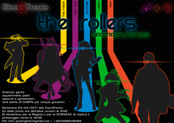 "Locandina per ""The Rollers - Secondary Heroes"""